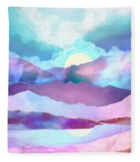 Opal Mountains Fleece Blanket