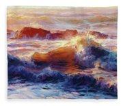 Opalescent Sea Fleece Blanket