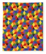 Open Hexagonal Lattice I Fleece Blanket