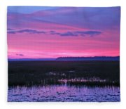Open Marsh Fleece Blanket