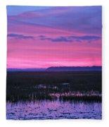 Open Marsh Fleece Blanket