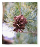 Open Pine Cone Fleece Blanket