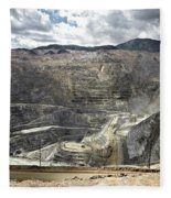Open Pit Mine, Utah, United States Fleece Blanket