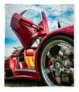 Open Sesame Red - Lamborghini Diablo  Fleece Blanket