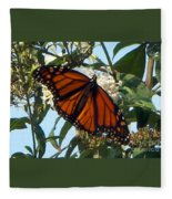 Opened Wings  Fleece Blanket