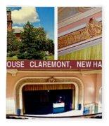 Opera House Claremont Nh Fleece Blanket