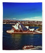 Opera House Sydney Austalia Fleece Blanket