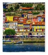 Oporto By The River Fleece Blanket