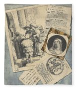 Optical Illusion With Prints And Pamphlets, L. Groskopf, C. 1746 Fleece Blanket