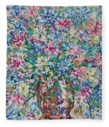 Opulent Bouquet. Fleece Blanket
