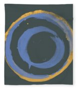 Orange And Blue1 Fleece Blanket