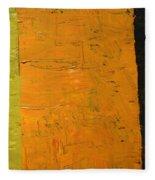 Orange And Brown Fleece Blanket