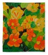 Orange And Yellow Days Fleece Blanket