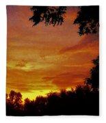Orange And Yellow Sunset Fleece Blanket
