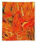 Orange Art Fleece Blanket by Colette V Hera Guggenheim