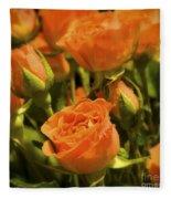 Orange Beauties Fleece Blanket