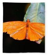 Orange Beauty Fleece Blanket
