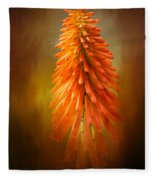 Orange Blast In The Garden Fleece Blanket