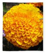 Orange Bloom Fleece Blanket