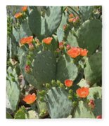 Orange Blossom Cactus  Fleece Blanket