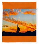 Orange Blossom Moments Fleece Blanket