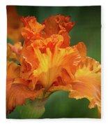 Orange Burst Fleece Blanket