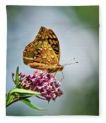 Orange Butterfly Fleece Blanket