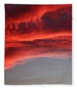 Orange Clouds Fleece Blanket
