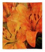 Orange Cluster 9225 Idp_2 Fleece Blanket