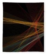 Orange Computer Graphic Line Pattern Fleece Blanket