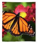 Orange Drift Monarch Butterfly Fleece Blanket