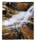Orange Falls Fleece Blanket