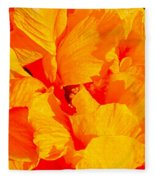 Orange Frills Fleece Blanket