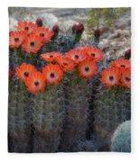 Orange Hedgehog Patch  Fleece Blanket