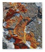 Orange Lichen Fleece Blanket