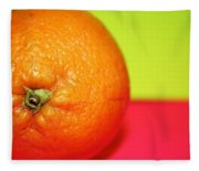 Orange Fleece Blanket