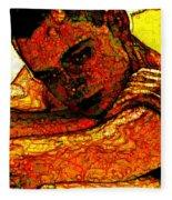 Orange Man Fleece Blanket