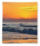 Orange Morn Fleece Blanket