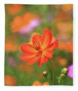 Orange Painted Landscape Fleece Blanket
