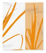 Orange Palm Fleece Blanket