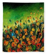 Orange Poppies 459080 Fleece Blanket
