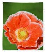 Orange Poppy 2 Fleece Blanket