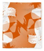 Orange Poster Lilies Fleece Blanket