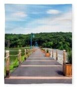 Orange Reservoir Fleece Blanket