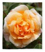 Orange Rose Square Fleece Blanket