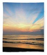 Orange Seas Fleece Blanket