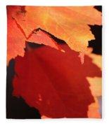 Orange Shadows Fleece Blanket