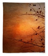 Orange Simplicity Fleece Blanket