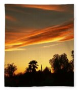 Orange Sky Fleece Blanket