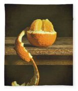 Orange Still Life Fleece Blanket